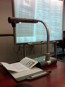 Smart Board & Document Camera in the HEDCO Technology Support Center